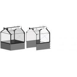 Potager surélevé GrowCamp Tall Air Basic de 50cm avec serre - 120x480x150cm