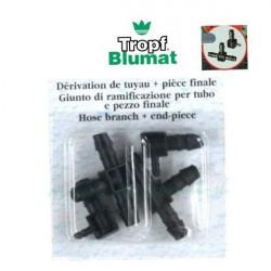 irrigation Blumat T de Dérivation Et Bouchons 8mm X 3pcs