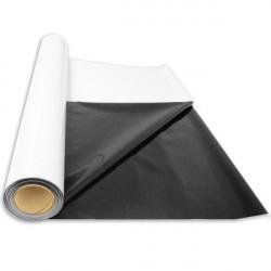 Bâche Noire / Blanche Rouleau 2x30m - Superplant , papier réfléchissant