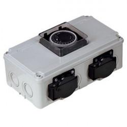 Davin Dv12 Timer Relais 2X600 W (Max) , programmateur lampes hps et mh