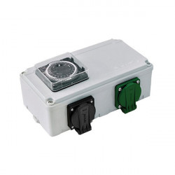 Davin Dv12K Timer Relais 2X600 W + Chauffage , programmateur lampes hps et mh