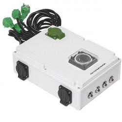 Davin Timer 16X600 W + Chauffage Dv 44K Euro Plug , programmateur lampes hps et mh