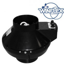 Extracteur air VK 125 mm U 365 m3/h avec thermostat et variateur intégré , aérateur , ventilation