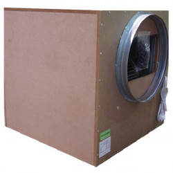 Casing extractor air soundproof SonoBox wood 6000 m3/h (3 x 250 mm and 1 x 450 mm) , aerator , vent