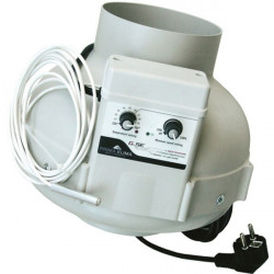 Extractor air PK 160 mm 800 m3/h with GSE Thermostat and speed controller, ventilator, ventilation