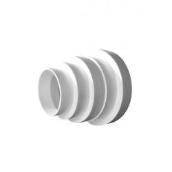 Réducteur de gaine PVC 80 - 100 - 125 -150 mm- gaine de ventilation