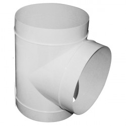 T de dérivation en PVC 3 x 125 mm- gaine de ventilation