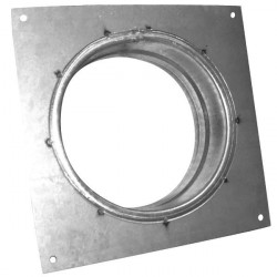 Flange carrée Galva 125 mm - gaine de ventilation