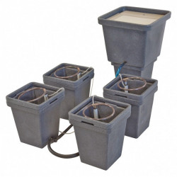 Hydroponic system ACS Waterpack 4 pots + tank - GHE-General Hydroponics