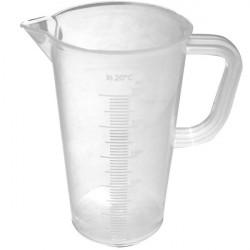 Measuring jug graduated in 50-mL