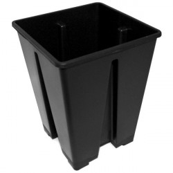Pot black Square 15x15x20 3.6-litre plastic