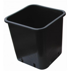 Pot black Square 18x18x23 6 L plastic