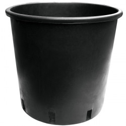 Pot, round plastic black 15 L 28x28cm