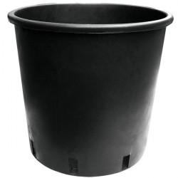 Pot, round plastic black 25 L 35x28 cm