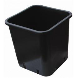 Pot Carré noir 12x12x13 - 1,5 L x 100pcs en plastique