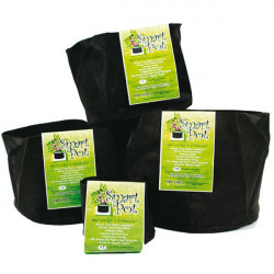 Pot 38 L - 10 gallons - Smart Pot , pot geotextile ,pot tissu