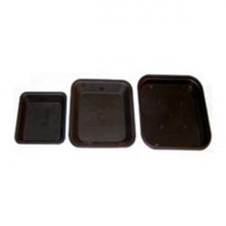 Coupelle carréee 18,9x18,9 cm x 10pcs pour pot carré