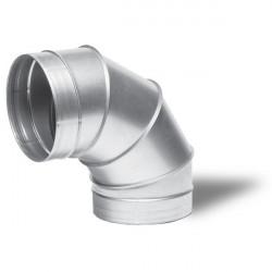 Winflex - Angle métal 90° 125mm - conduit de ventilation