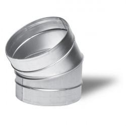 Winflex - Angle métal 30° 125mm -conduit de ventilation gaine
