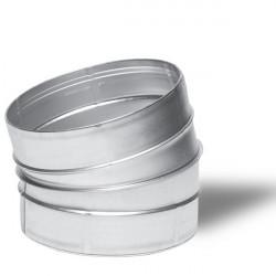 WINFLEX ANGLE METAL 15°C 125MM-conduit de ventilation gaine