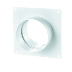 Winflex - flange carré 125mm-conduit de ventilation gaine