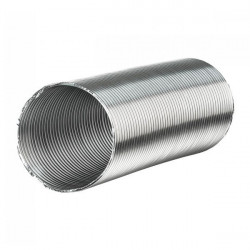 Sheath aluminium semi-rigid 150mm x 3 metres - duct ventilation duct