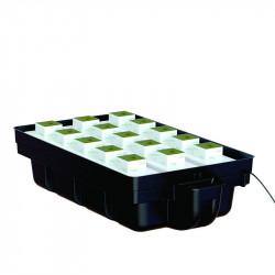 système hydroponique Ebb and Flow 110 x 60 cm avec pompe MJ 500 - Platinium Hydroponics