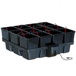 système hydroponique Hydropro 100 - 12 pots 11L avec pompe MJ1000 - Platinium Hydroponics