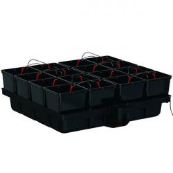 système hydroponique Hydropro 120 - 16 pots 11L avec pompe MJ1000 - Platinium Hydroponics