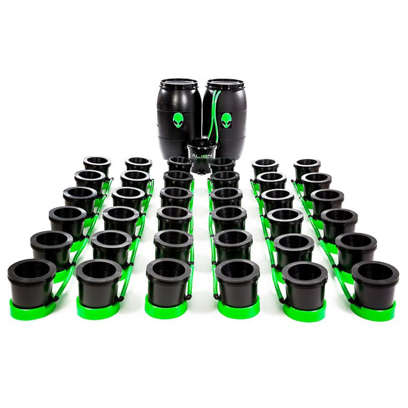DWC hydroponic system Alien System - Flood and Drain 36 Pots 10L - Indoor  Discount