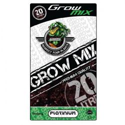 terreau Grow Mix Perlite 10% sac de 20 L - Platinium Soil - croissance et floraison