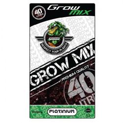 terreau Grow Mix Perlite 10% sac de 40 L - Platinium Soil - croissance et floraison