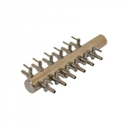 Diffuseur Manifold Acier 4/6mm 12 sorties bulleurs - Platinium