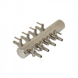 Diffuseur Manifold Acier 4/6mm 8 sorties bulleurs - Platinium