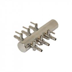 Diffuseur Manifold Acier 4/6mm 6 sorties bulleurs - Platinium