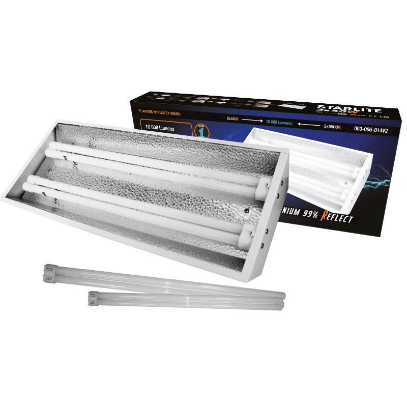 Rampe néons StarLite 2 x 55 W avec tubes 6500 °K, turbo néons , rampes fluorescents