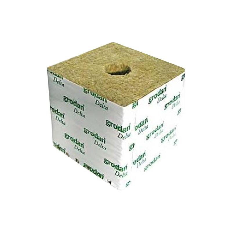 Cubes de laine de roche 75x75x65 par 8 /Ø38mm Grodan