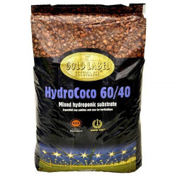 Gold Label 60/40 Mix 50ltr , susbstrat mix fibre de coco 60% , billes argiles 40%
