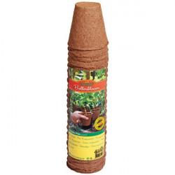 Lot de 24 Pots Ronds Biodégradables 6cm , germination , bouturage