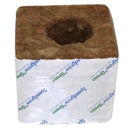 Cubes laine de roche SpeedGrow Green 7,5 x 7,5 cm Trou 28 x 35 mm , horticulture carton de 224 pièces