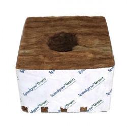 Cubes laine de roche SpeedGrow Green 10 x 10 x 6,5 cm Trou 38 x 35 mm carton de 120 pièces