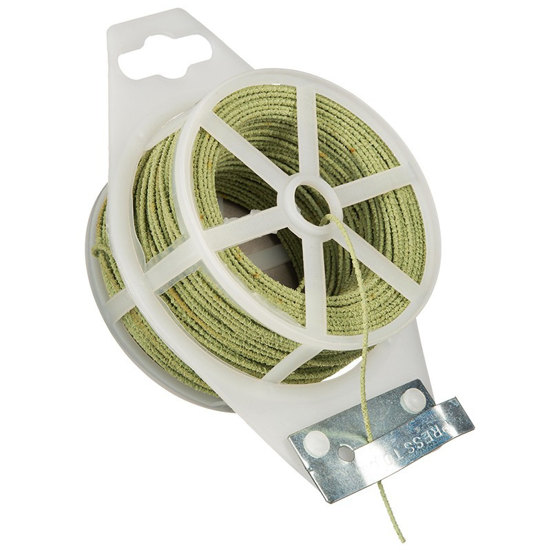 METAL HORTICULTURAL SUPPORT WIRE IN ROUGH PLASTIC - 50M