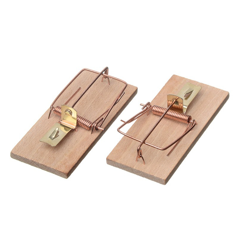 TRADITIONAL MOUSE TRAP 2 WOODEN SISSIES - 10 X 4,5CM