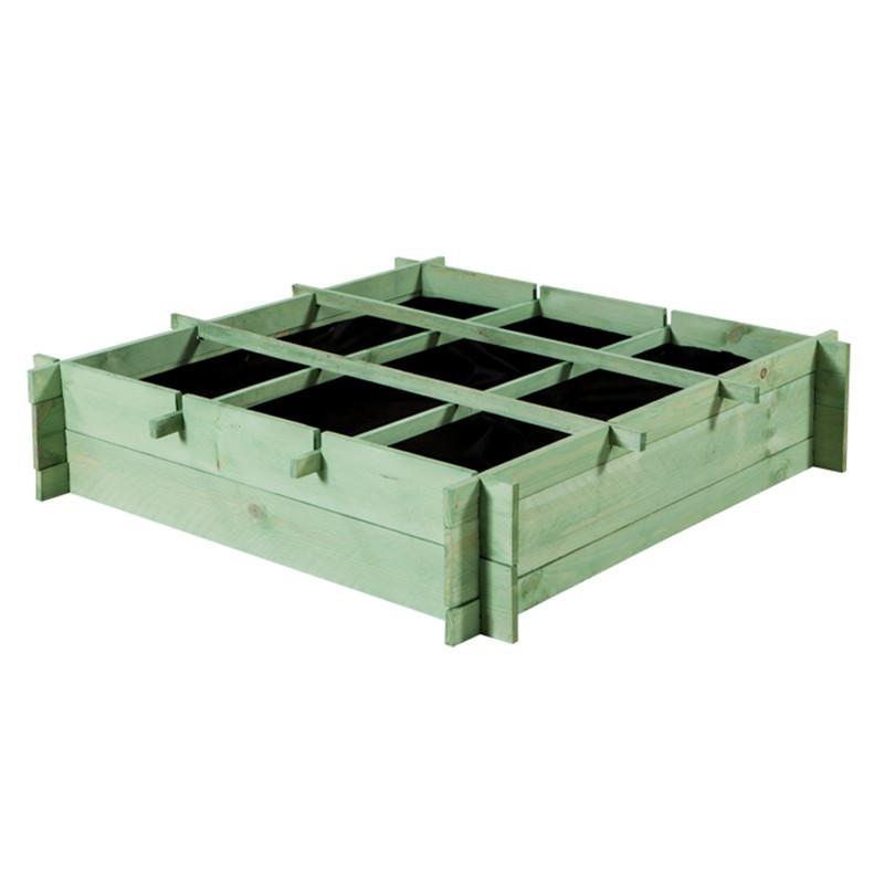 PALE GREEN VEGETABLE GARDEN 90X90X20CM