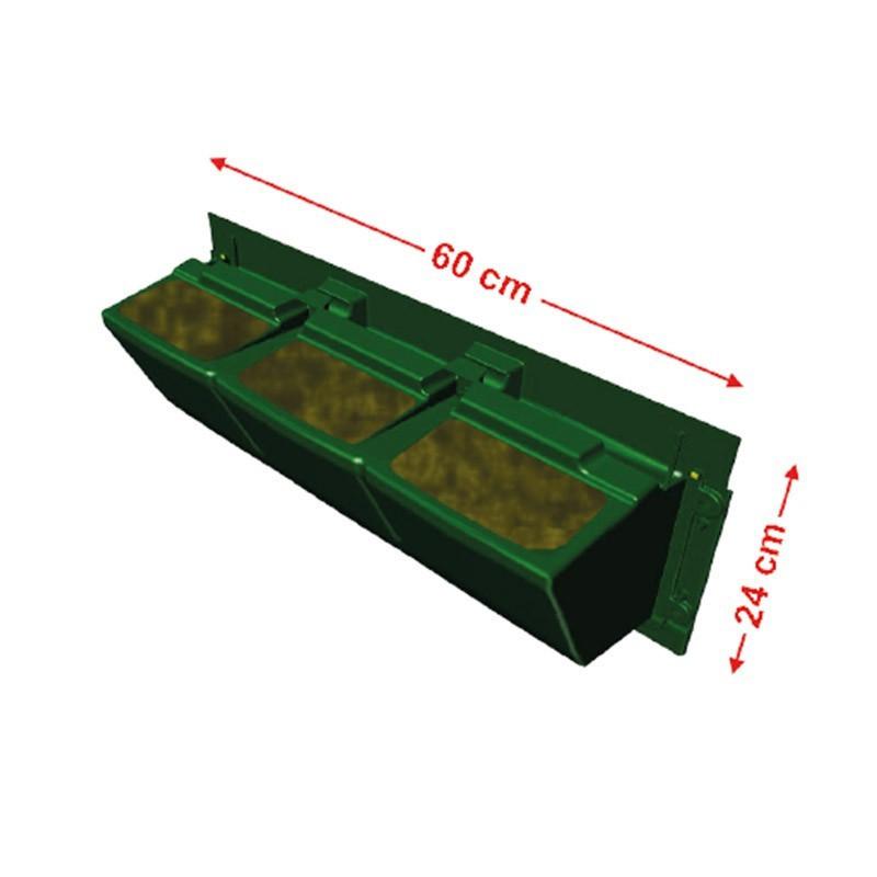 GARDEN MODULOGREEN 60CMX24CM(H) substrate gutter hook included