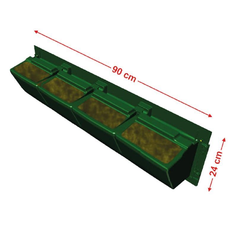 GARDEN MODULOGREEN 90CMX24CM(H) substrate gutter hook included