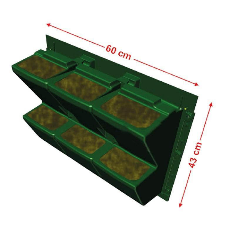 GARDEN MODULOGREEN 60CMX43CM(H) substrate gutter hook included