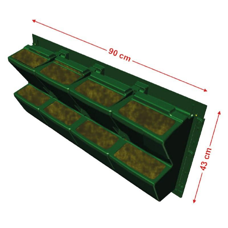 GARDEN MODULOGREEN 90CMX43CM(H) gutter hook included