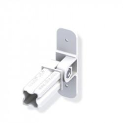 Connecteur avec base articulé pour tube PVC/alu - blanc 1 branche 23.5mm carrée