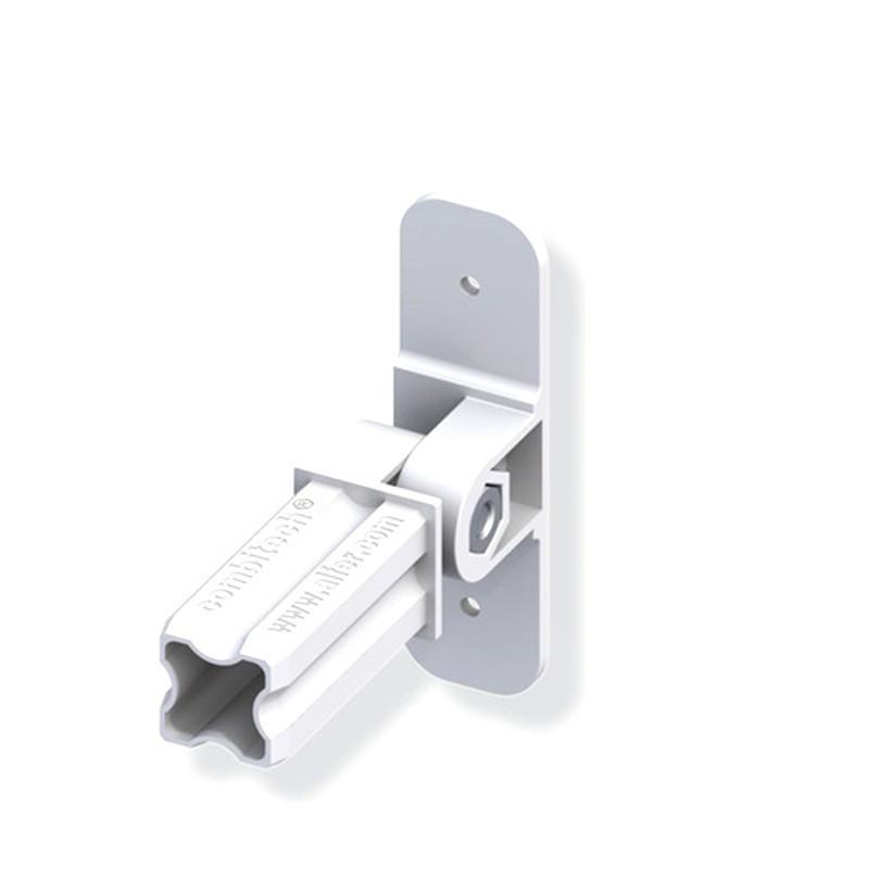 Connecteur articulé pour tube PVC/alu - blanc 1 branche 23.5mm carrée